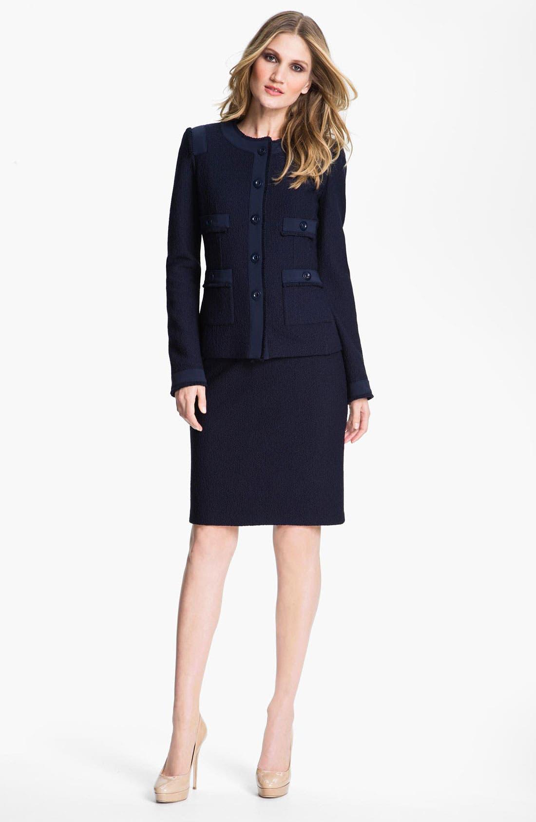 Main Image - St. John Collection Bouclé Jacket & Dress