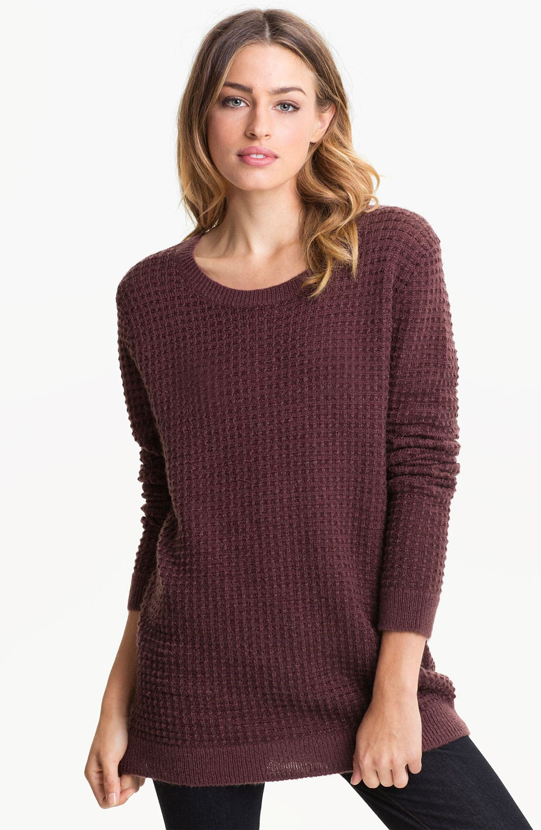Main Image - Hinge® Open Back Thermal Knit Sweater