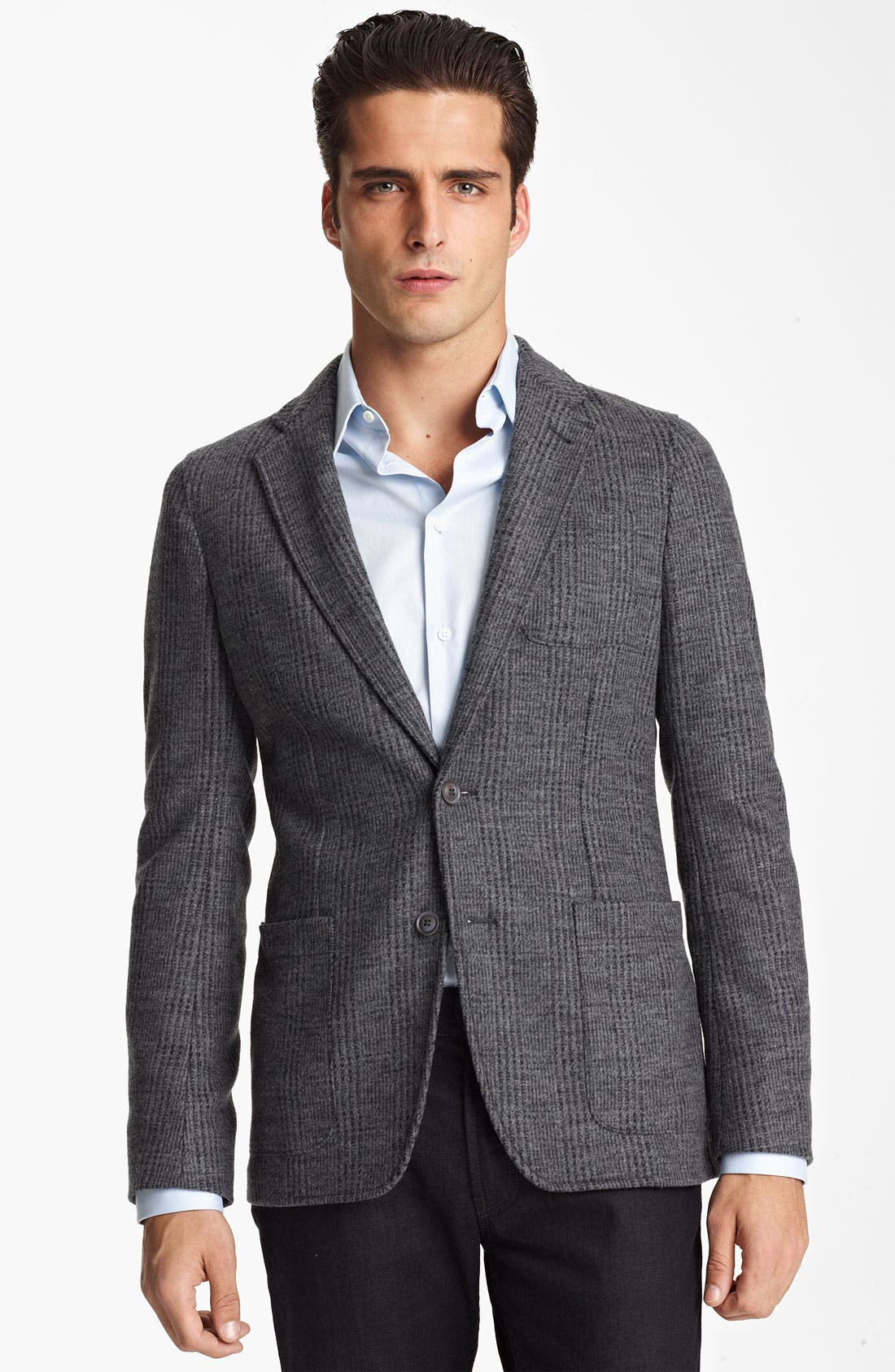 Alternate Image 1 Selected - Armani Collezioni Trim Fit Knit Blazer