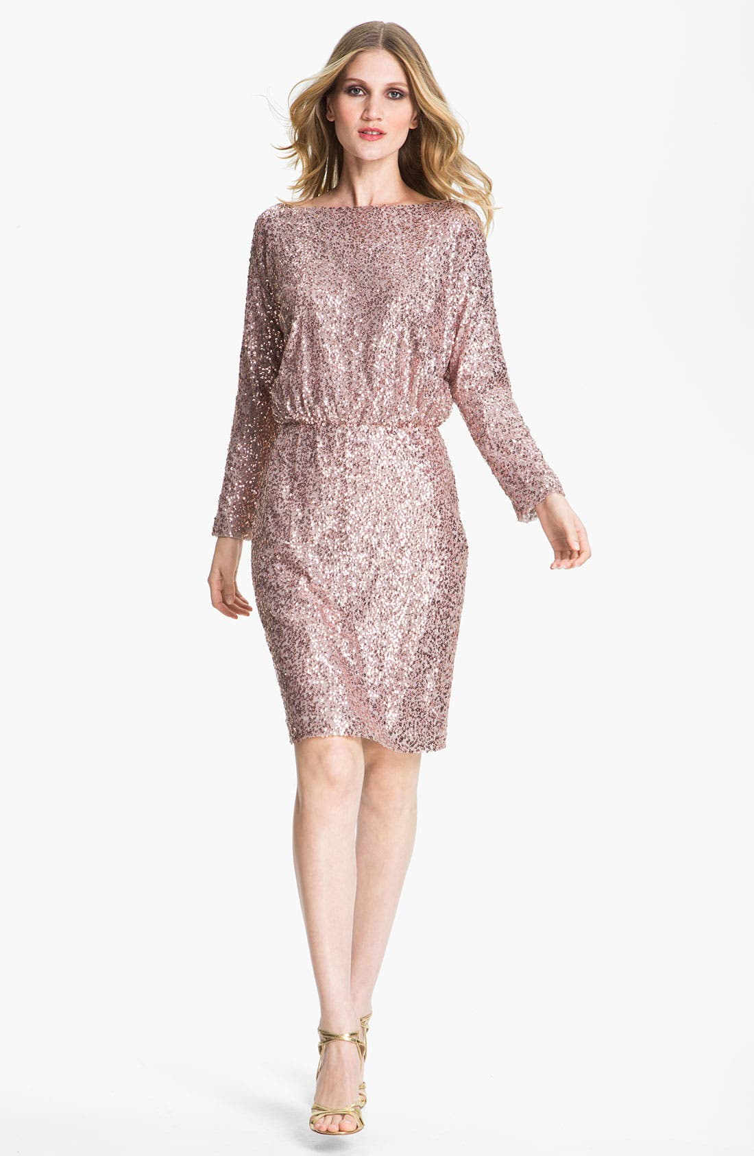 Alternate Image 1 Selected - St. John Collection Bateau Neck Sequin Dress