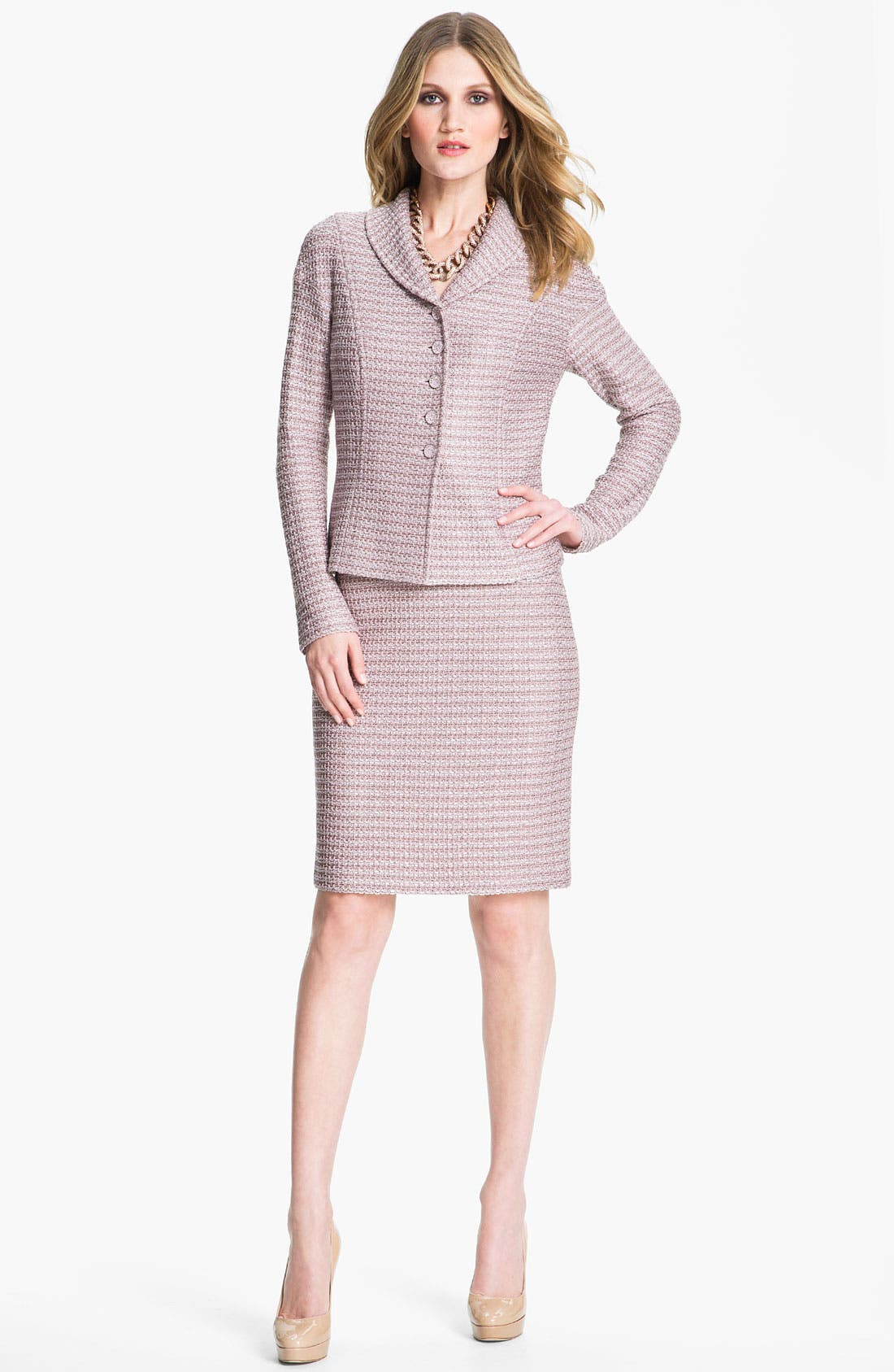Main Image - St. John Collection Madison Tweed Skirt