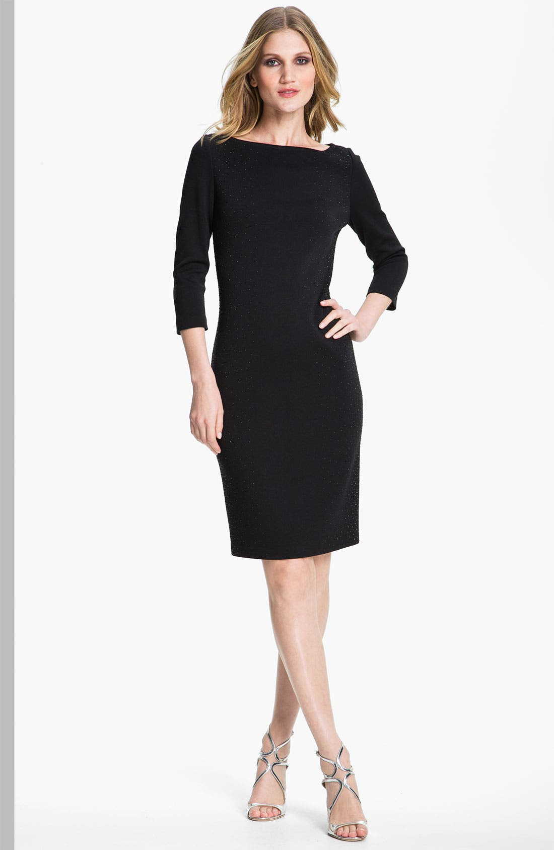 Main Image - St. John Collection Milano Knit Cocktail Dress
