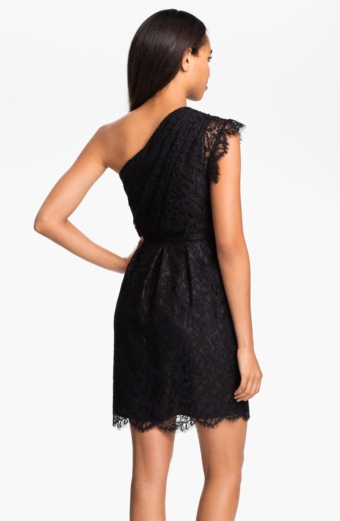 Alternate Image 2  - Shoshanna 'Verona' One Shoulder Lace Dress