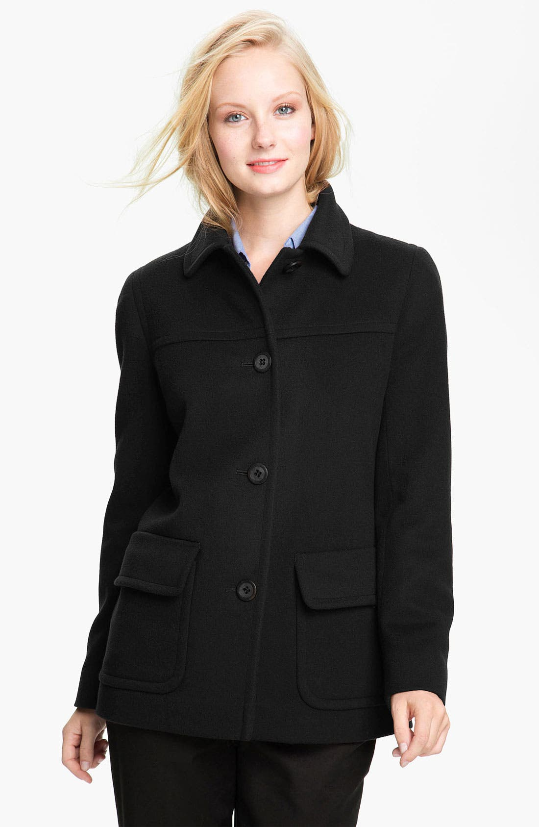 Main Image - Fleurette Single Breasted Wool Jacket (Petite)