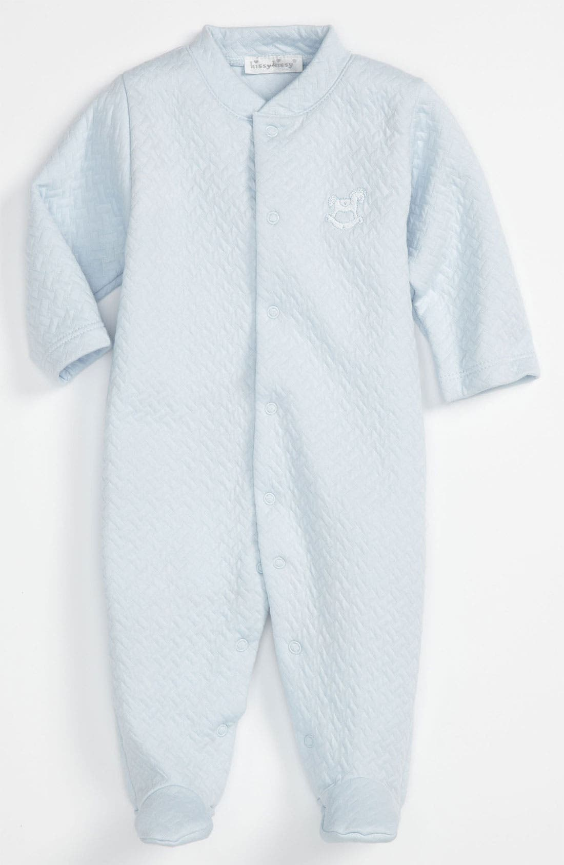 Alternate Image 1 Selected - Kissy Kissy Quilted Footie (Infant)