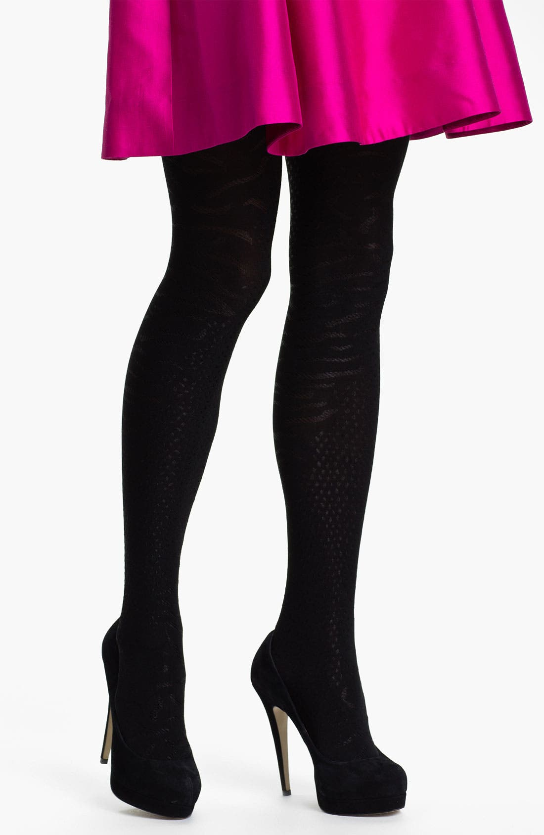 Alternate Image 1 Selected - DKNY 'Animal Skin' Tights
