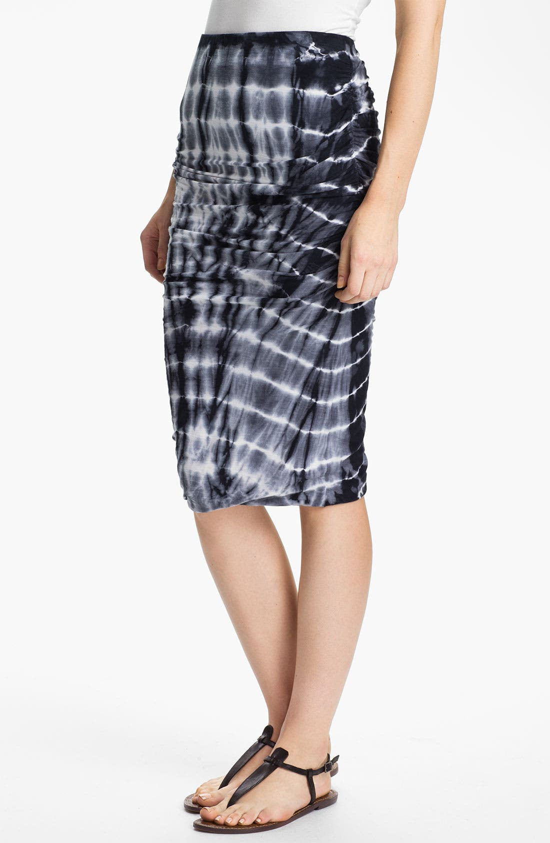 Alternate Image 1 Selected - James Perse Tie Dye Ruched Pencil Skirt