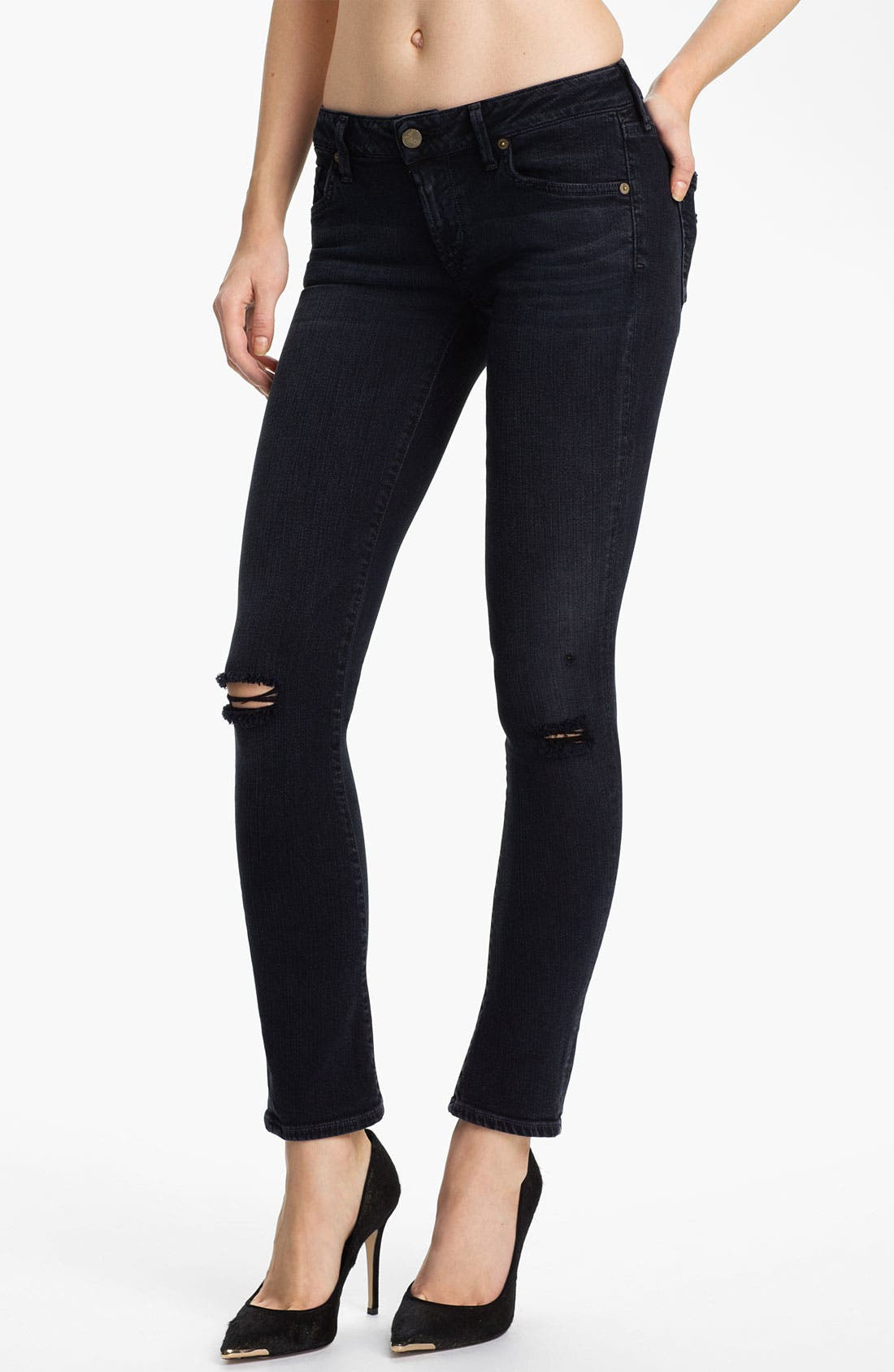 Alternate Image 1 Selected - Citizens of Humanity 'Racer' Crop Skinny Jeans (Nocturn)