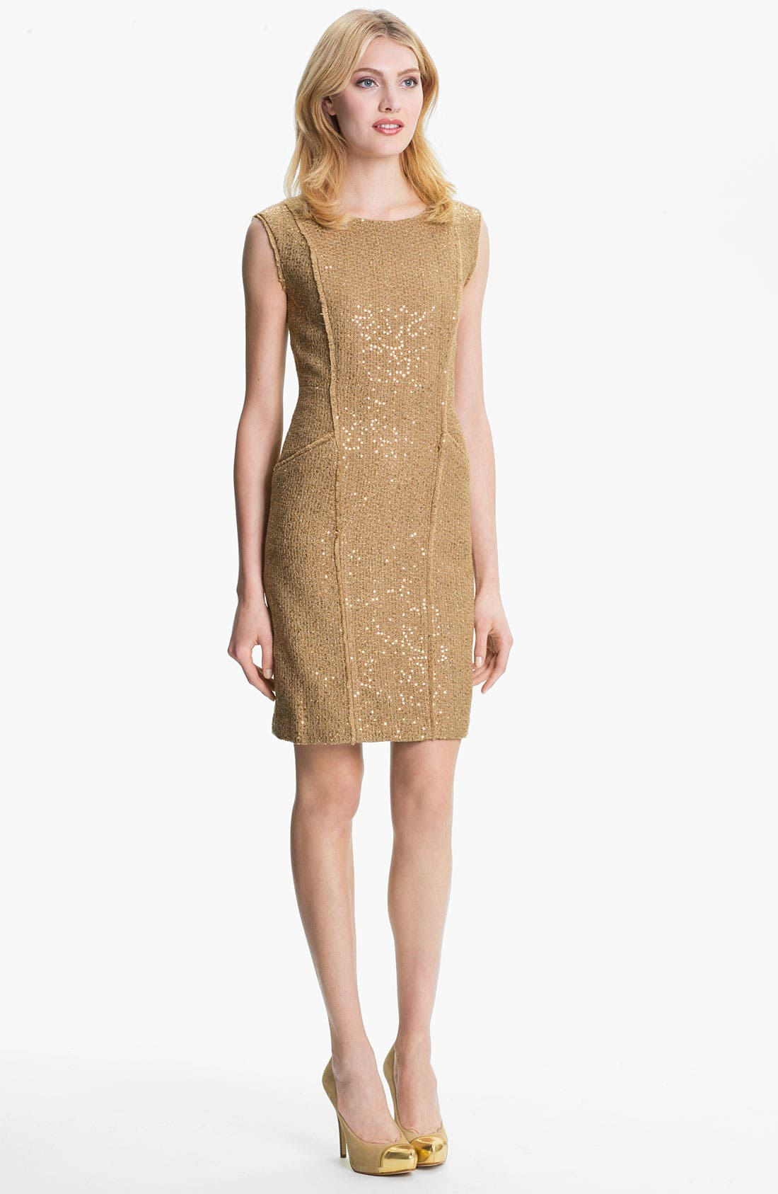 Alternate Image 4  - MICHAEL Michael Kors Fray Edge Sheath Dress (Petite)