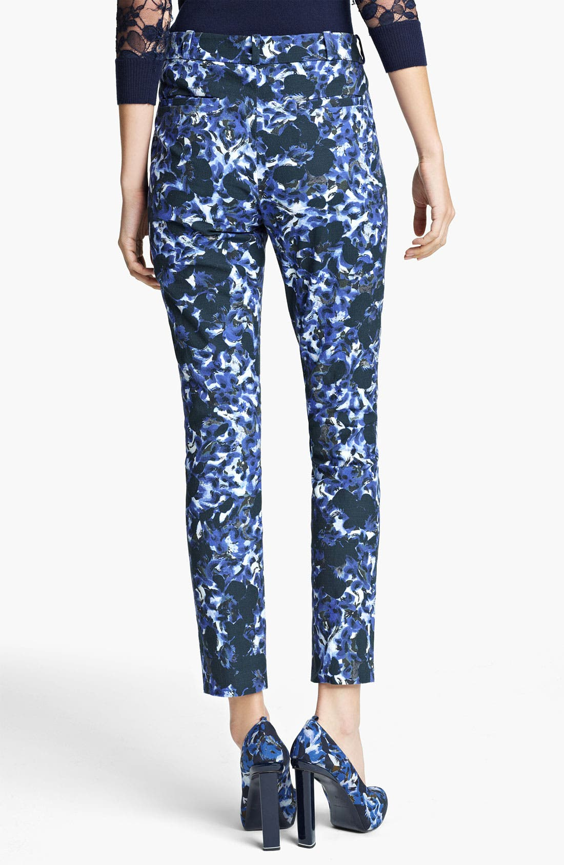 Alternate Image 2  - Erdem Swirl Print Slim Pants