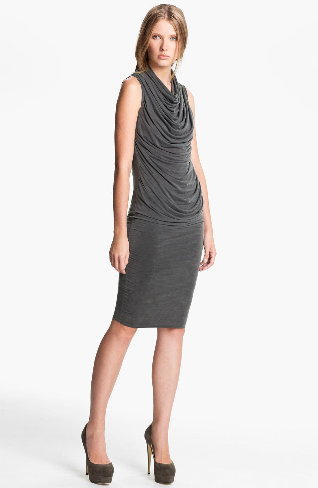 Main Image - Helmut Lang 'Shade' Sleeveless Draped Dress