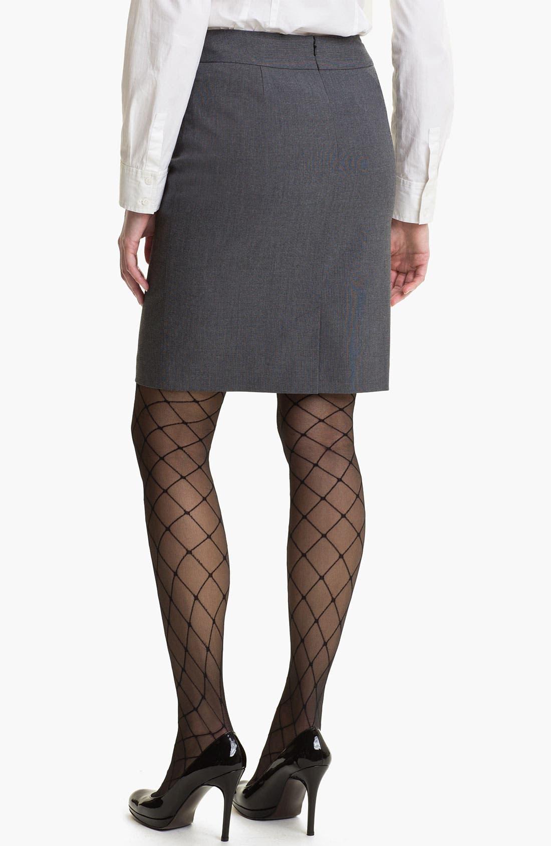 Alternate Image 2  - Halogen® Micro Texture Pencil Skirt