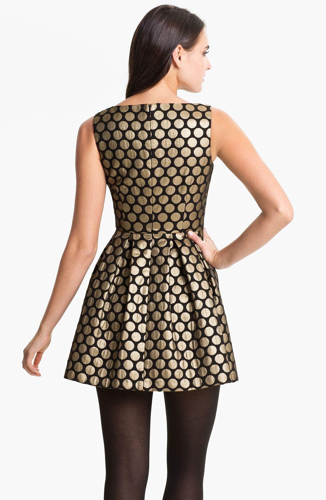 Alternate Image 2  - Vince Camuto Dot Jacquard Dress