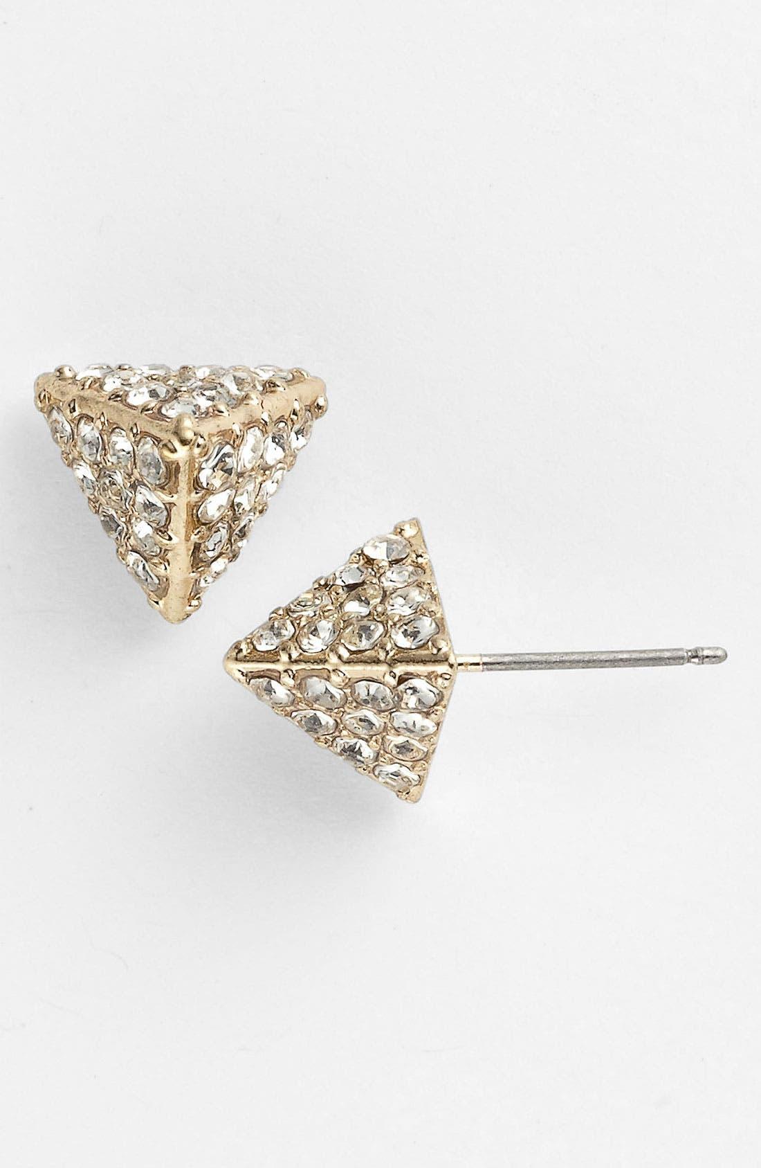 Main Image - Carole Rhinestone Pyramid Stud Earrings