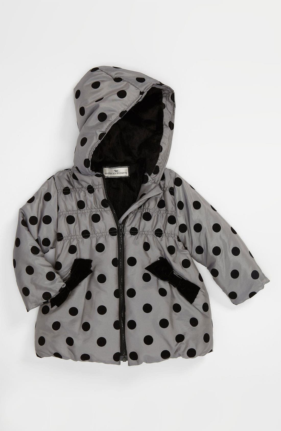Alternate Image 1 Selected - Widgeon Polka Dot Coat (Toddler)
