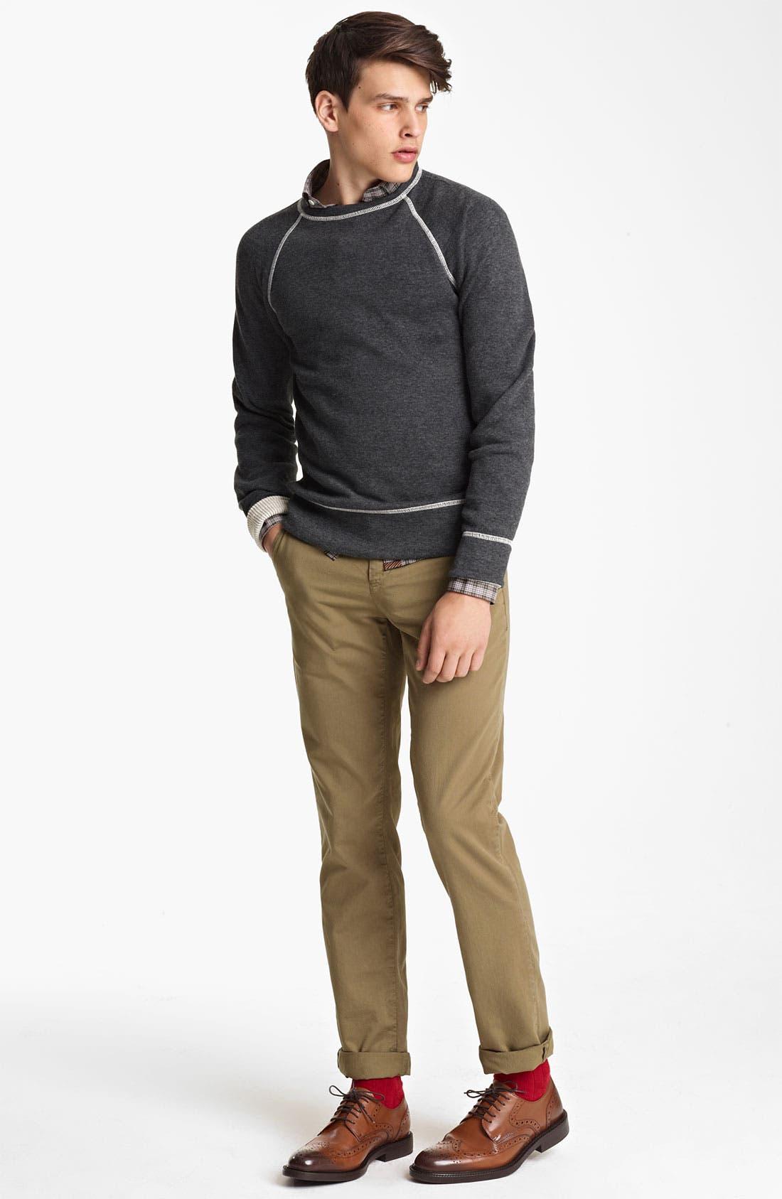 Alternate Image 4  - Billy Reid Raglan Crewneck Sweatshirt