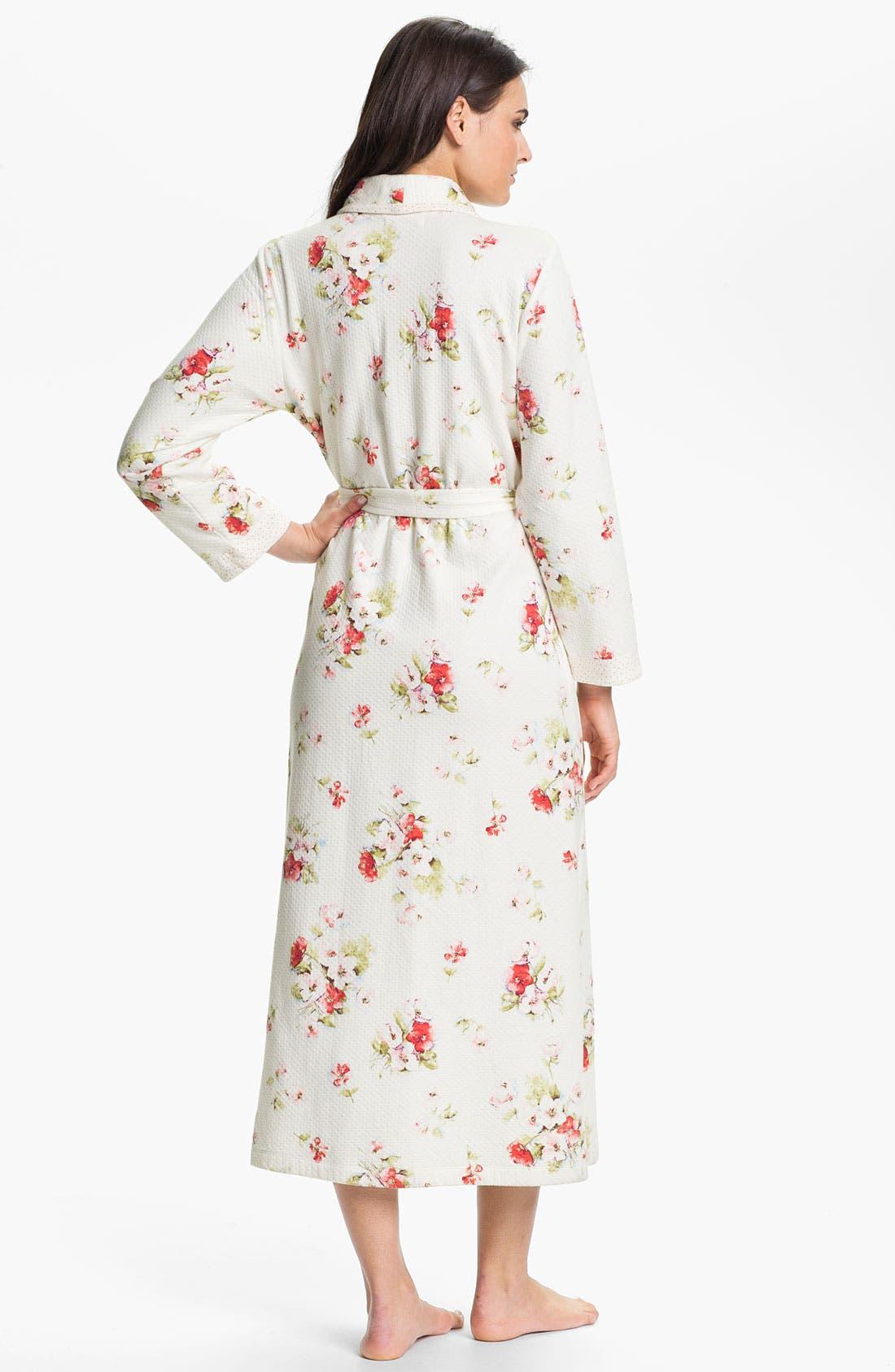 Alternate Image 2  - Carole Hochman Designs 'Roseberry Amaryllis' Robe