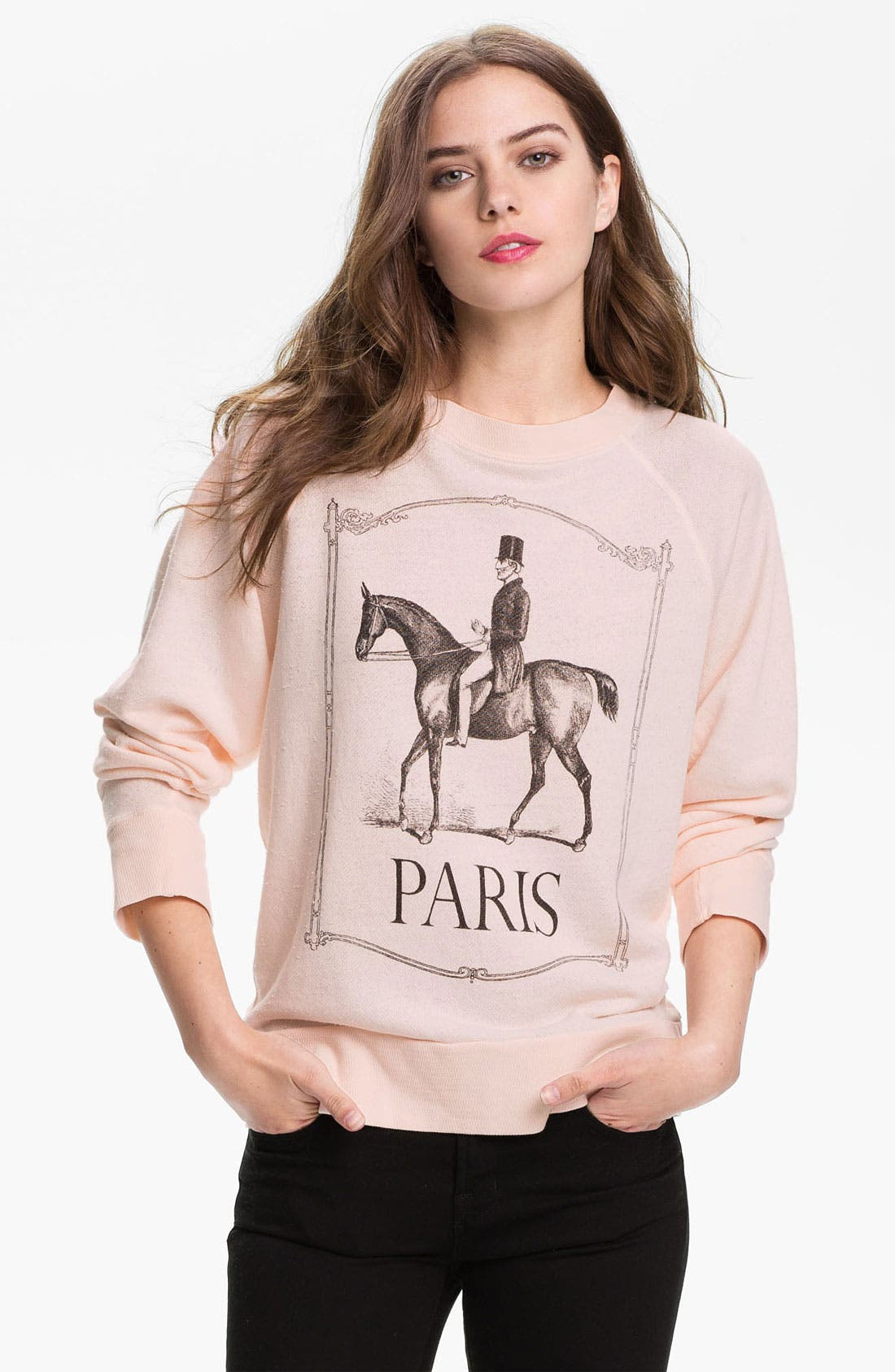 Alternate Image 1 Selected - Wildfox 'Polo Pony' Vintage Graphic Sweatshirt