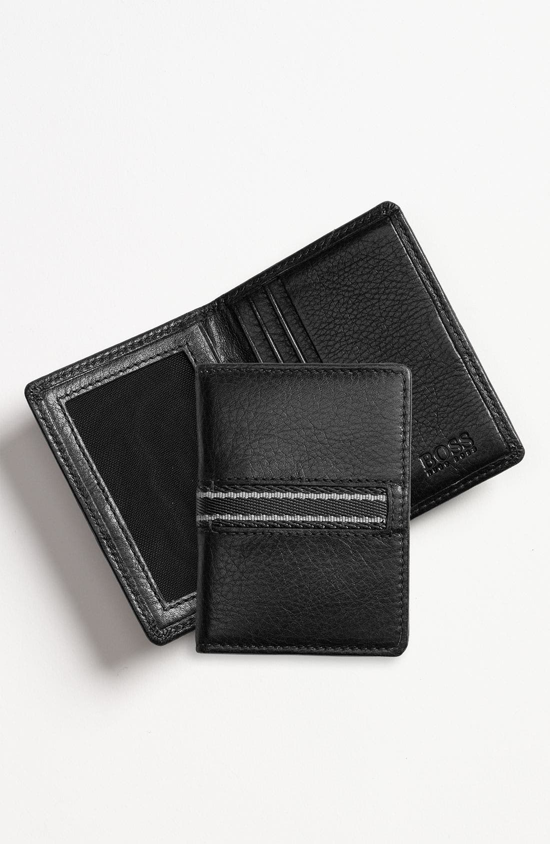 Alternate Image 1 Selected - BOSS Black 'Simson' Bifold Card Case