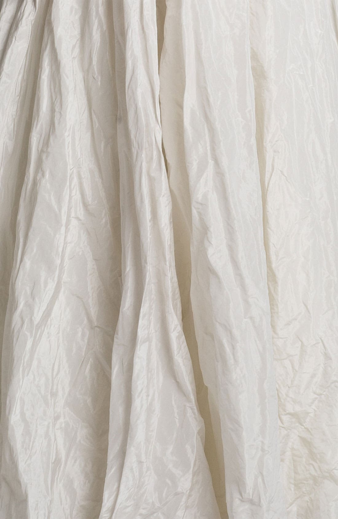 Alternate Image 4  - Nicole Miller 'Stacy' Metallic Textured Taffeta Trumpet Gown