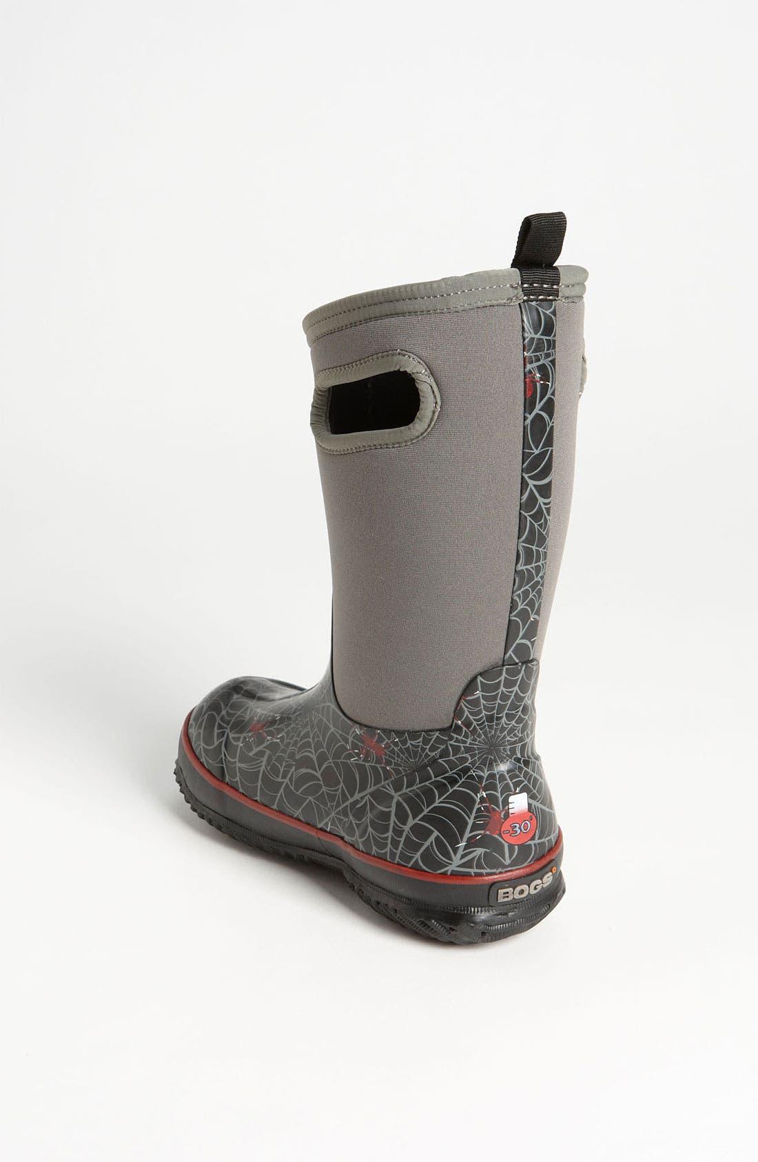 Alternate Image 2  - Bogs 'Classic High - Spiders' Waterproof Boot (Toddler, Little Kid, & Big Kid)