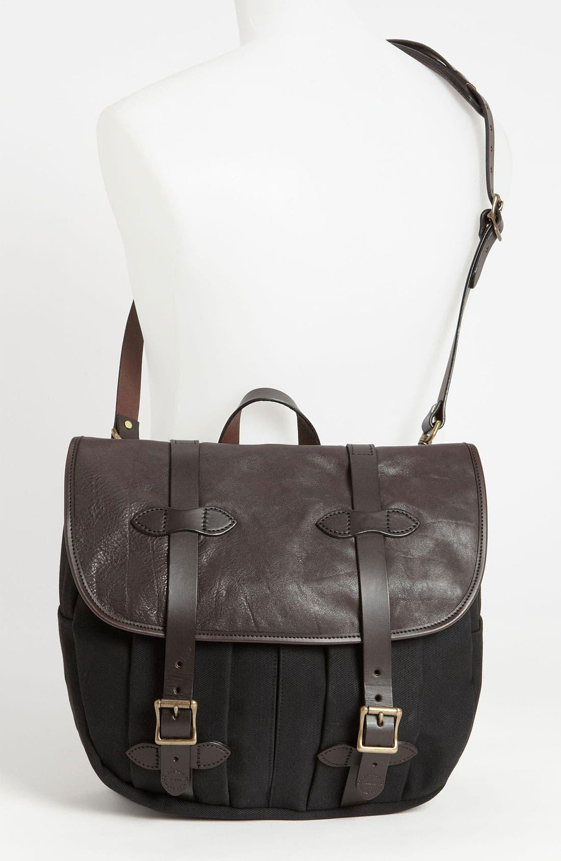 Alternate Image 2  - Filson Medium Twill & Leather Field Bag