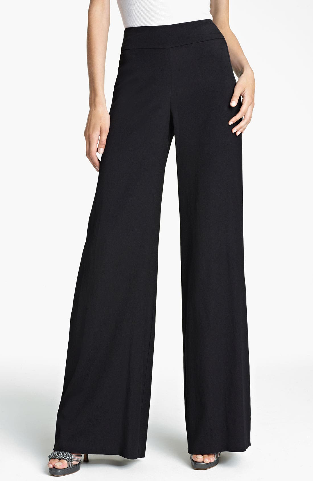 Main Image - Donna Karan Collection Wide Leg Crepe Trousers