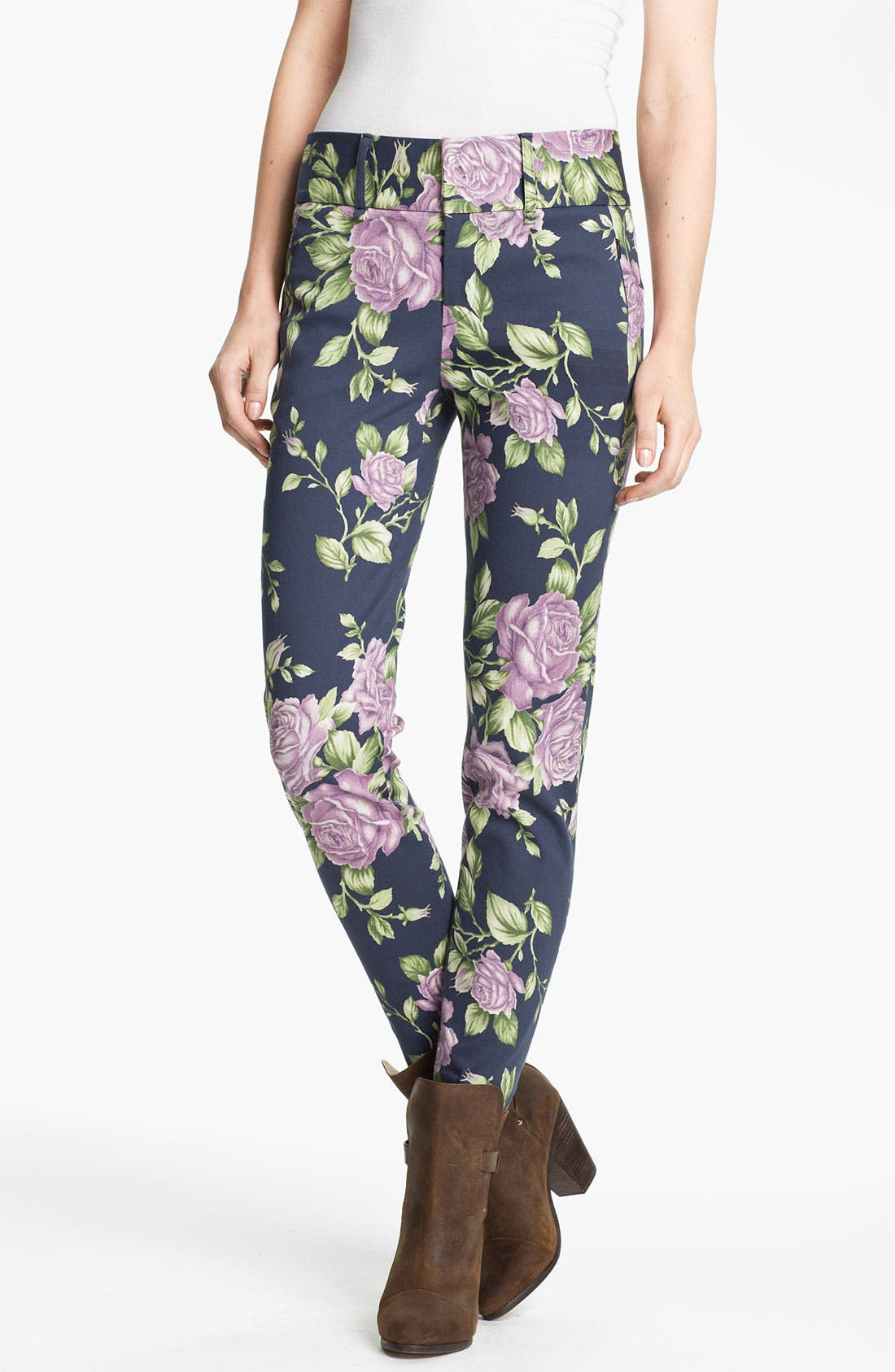 Main Image - rag & bone 'Malin' Floral Print Skinny Stretch Pants