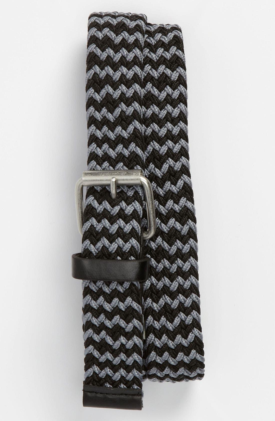 Main Image - Topman Elastic Weave Belt