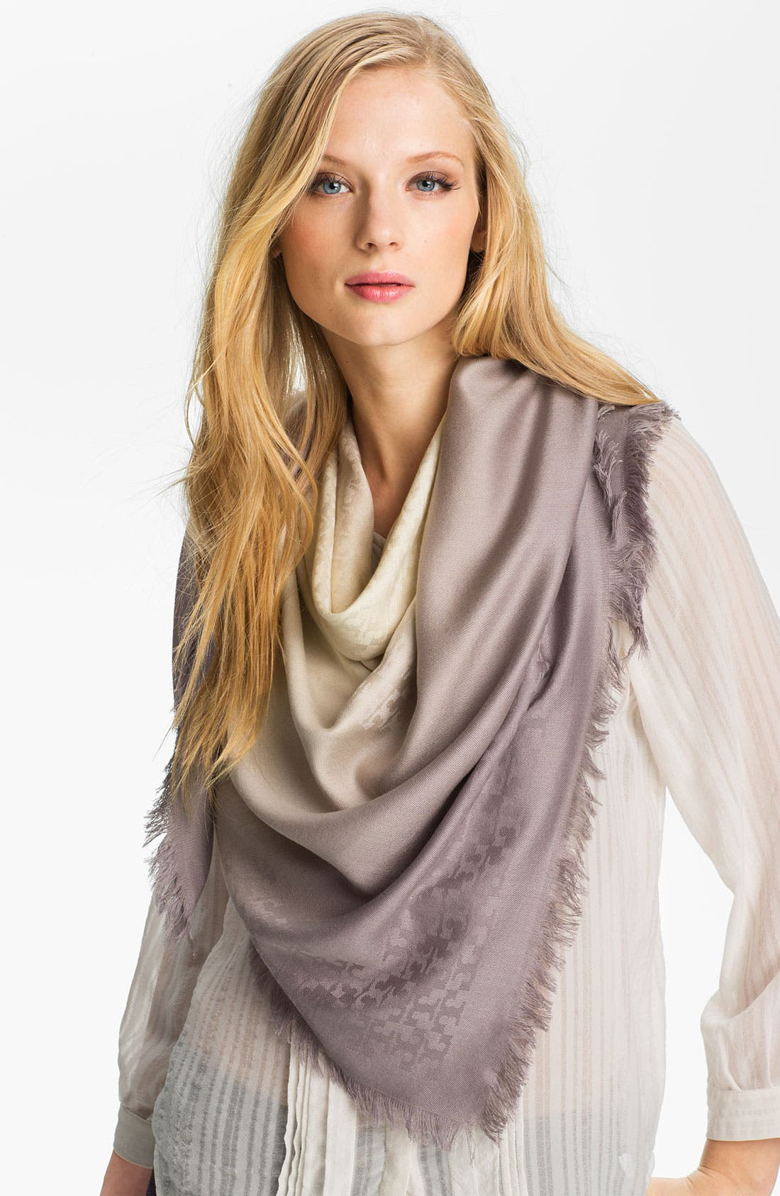 Alternate Image 1 Selected - Tory Burch Dip Dye Jacquard Scarf