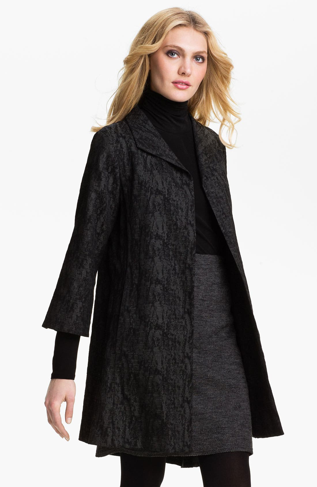 Main Image - Eileen Fisher Jacquard Coat (Online Exclusive)
