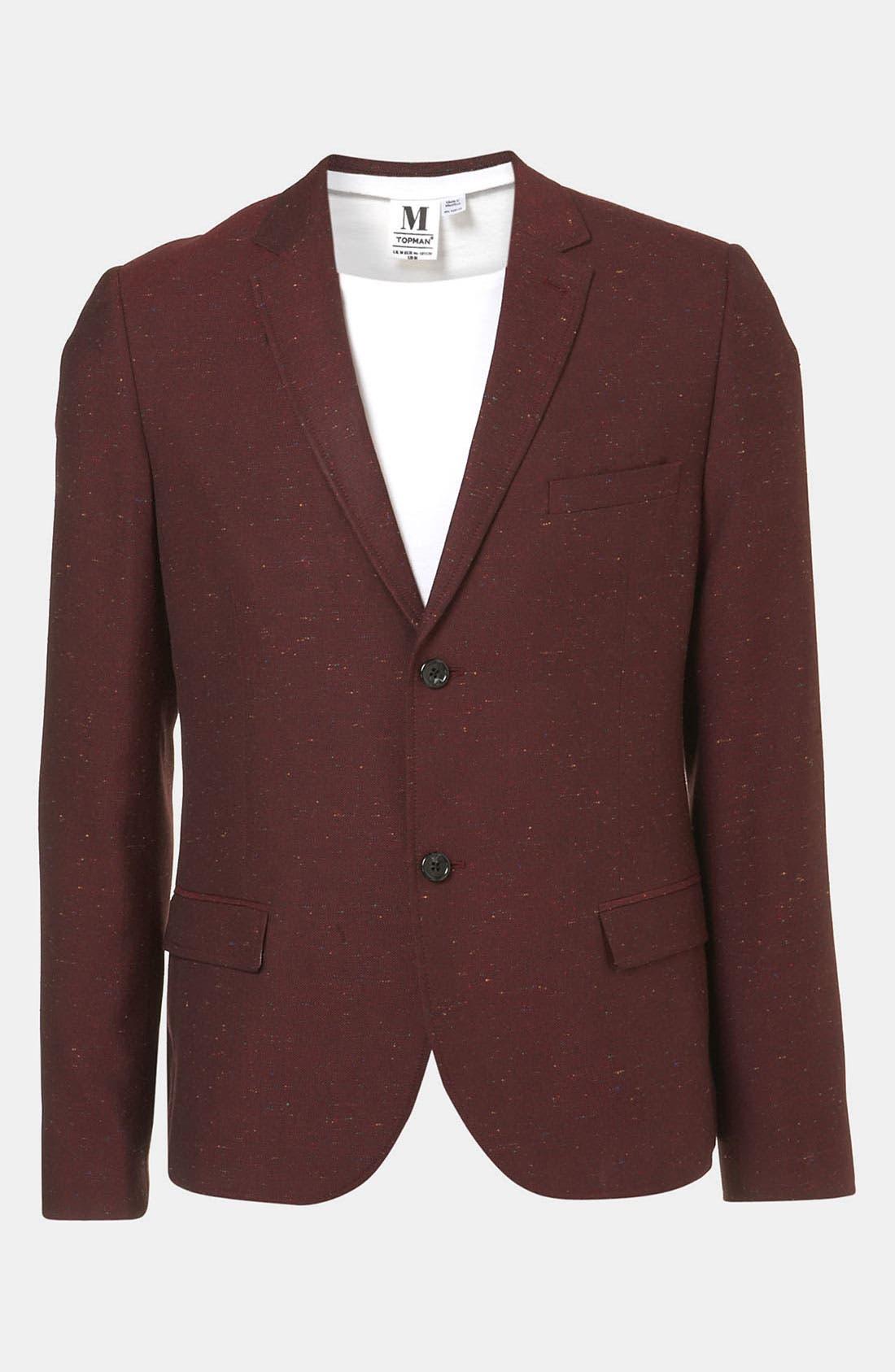 Alternate Image 1 Selected - Topman 'Oxford' Skinny Fit Blazer