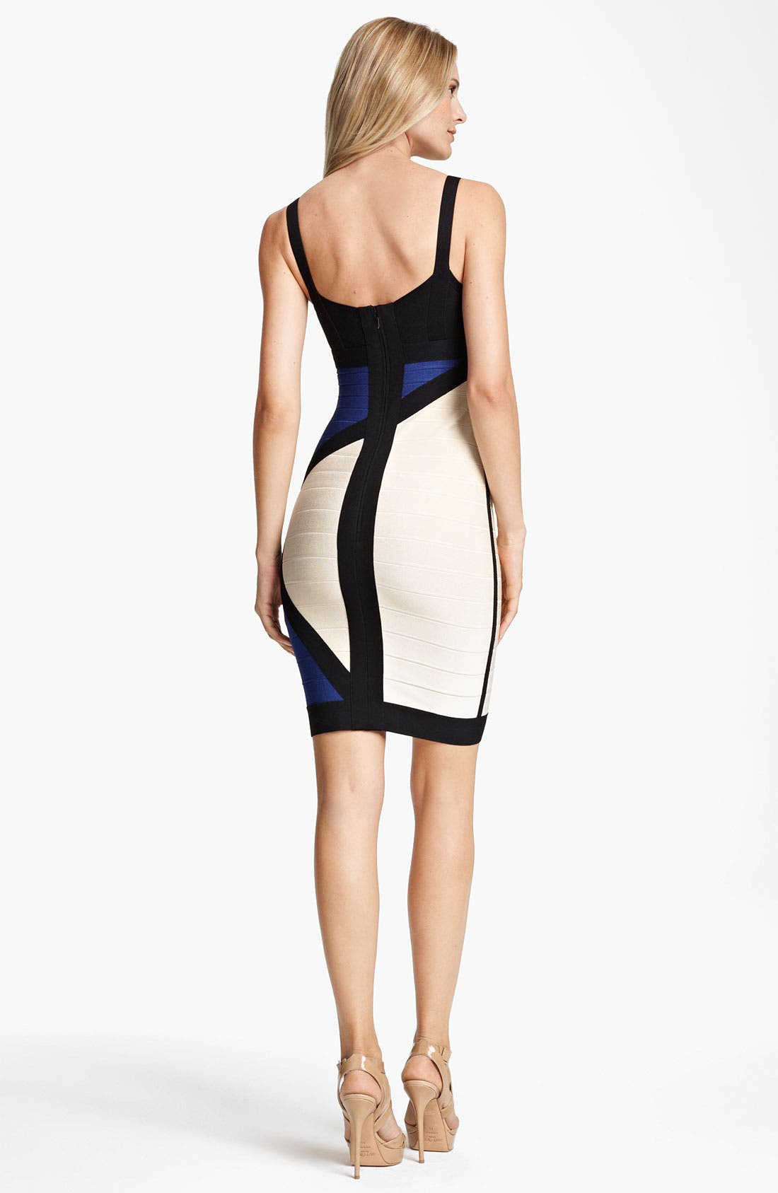 Alternate Image 2  - Herve Leger Colorblock Bandage Dress