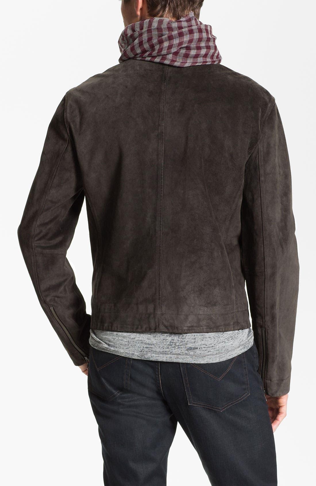 Alternate Image 2  - John Varvatos Star USA Suede Moto Jacket