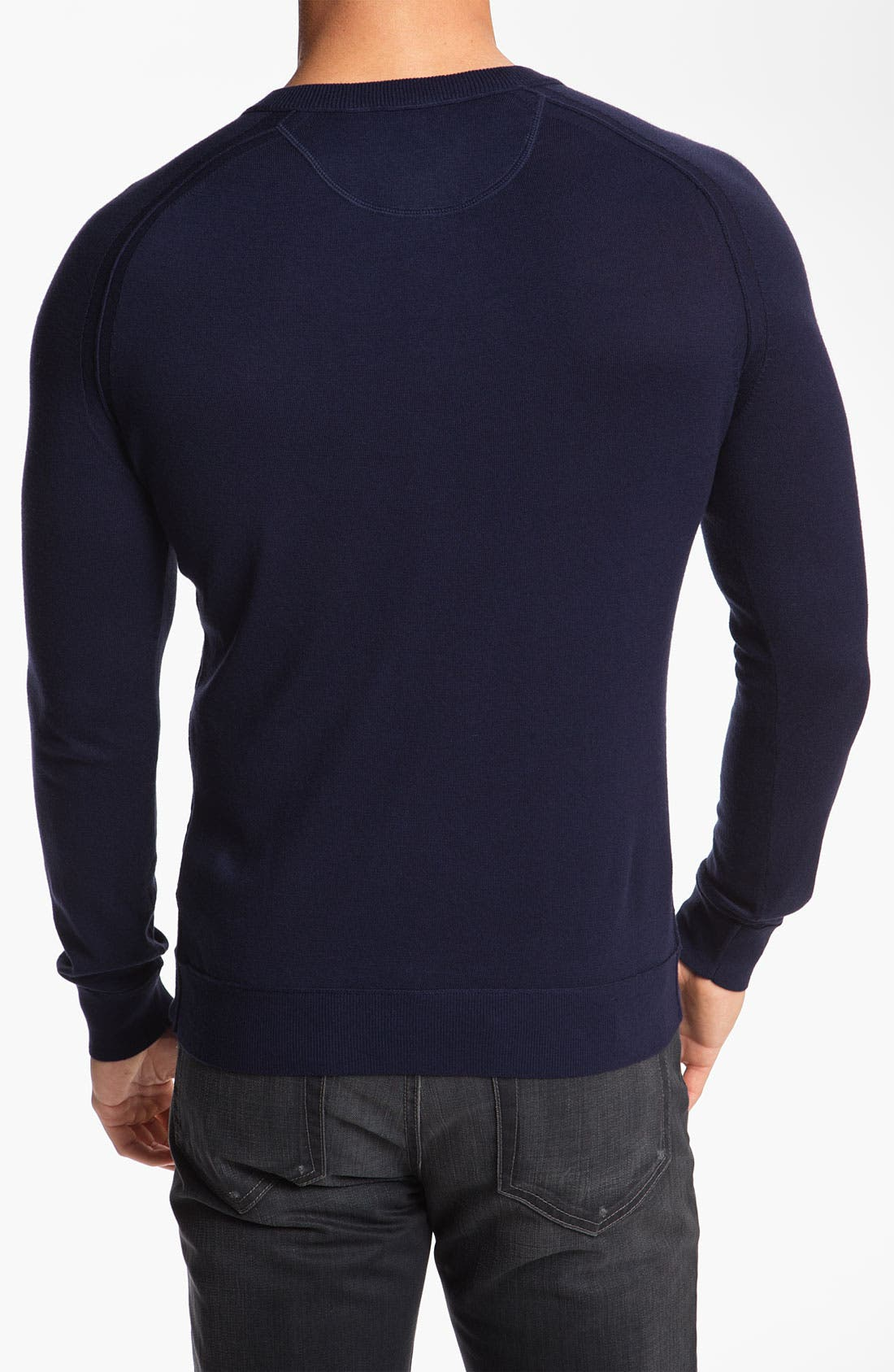 Alternate Image 2  - BOSS Orange Trim Fit Knit Henley