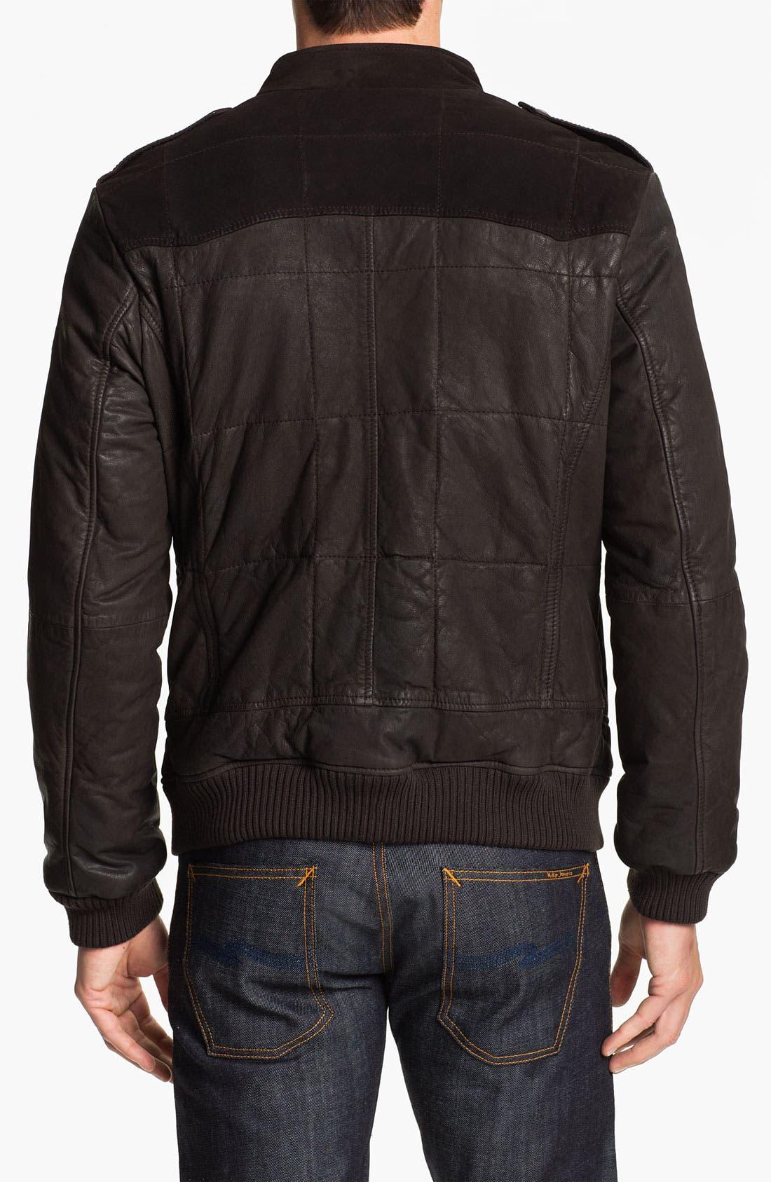Alternate Image 2  - BOSS Orange 'Jearne' Quilted Leather Jacket