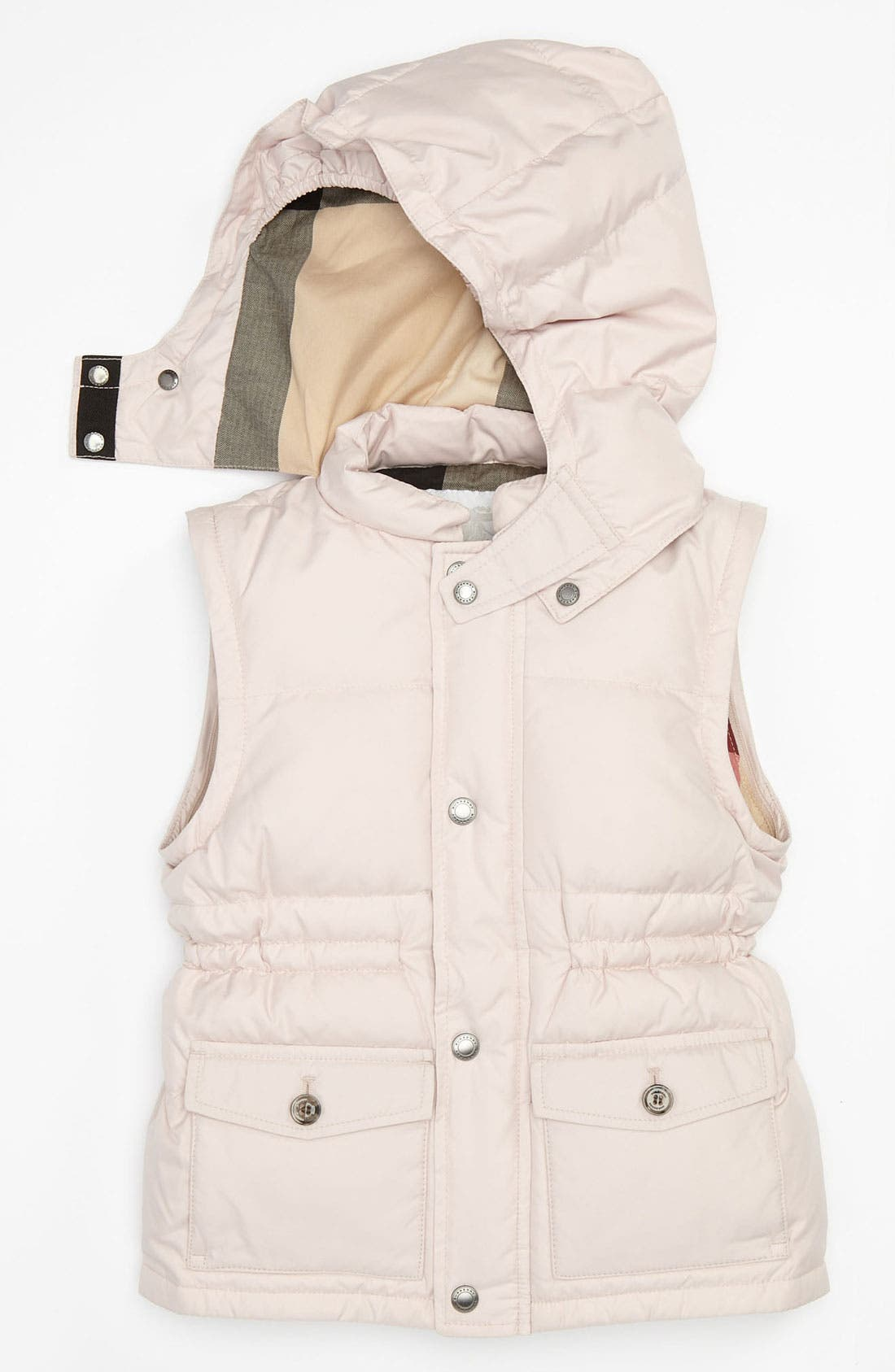 Alternate Image 2  - Burberry Convertible Puffer Jacket (Toddler)