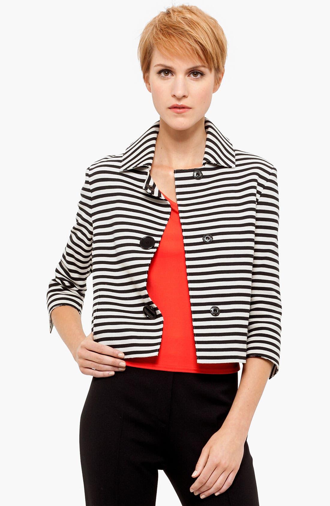 Alternate Image 1 Selected - Akris punto Crop Cotton Jacket