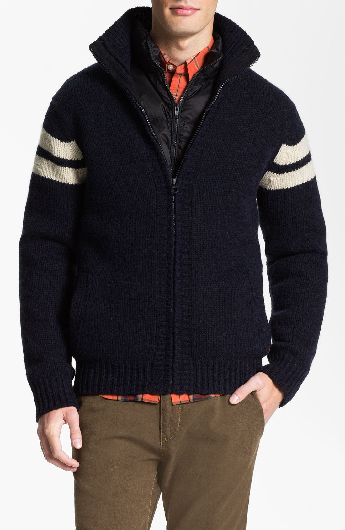 Alternate Image 1 Selected - Scotch & Soda Wool Blend Cardigan with Optional Down Liner