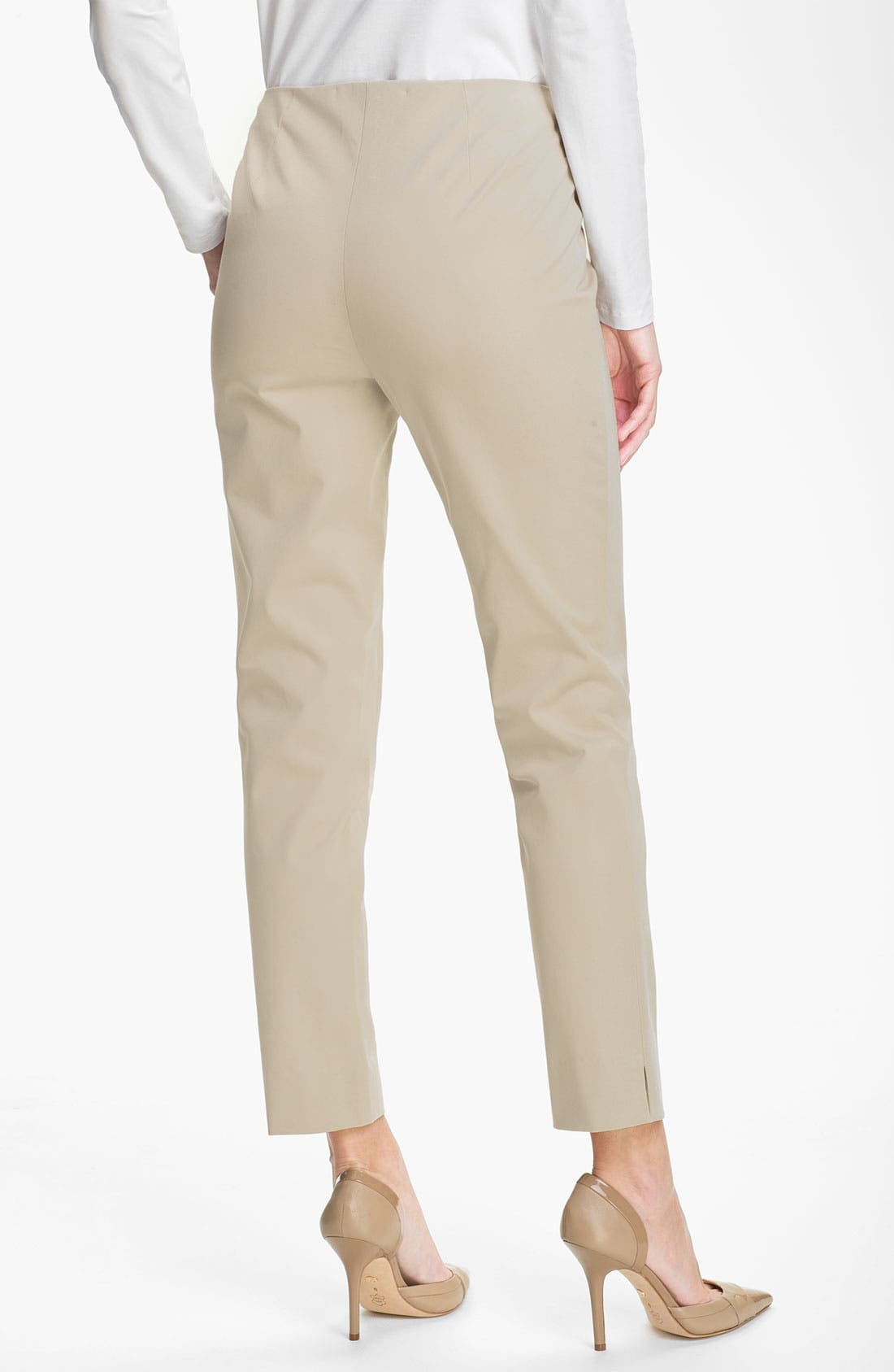 Alternate Image 2  - Lafayette 148 New York 'Bleecker' Polished Twill Pants