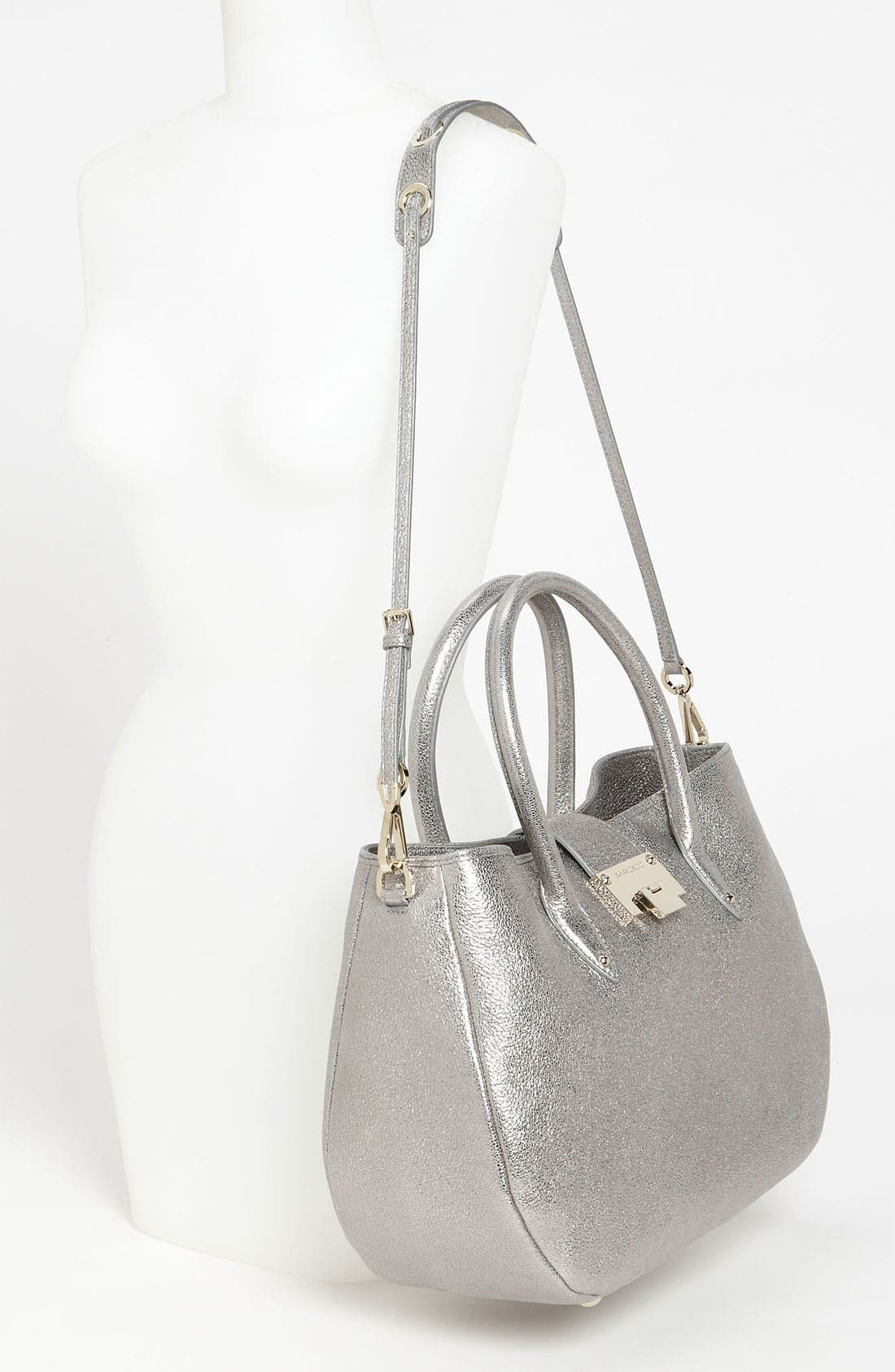 Alternate Image 2  - Jimmy Choo 'Rania' Glitter Leather Satchel
