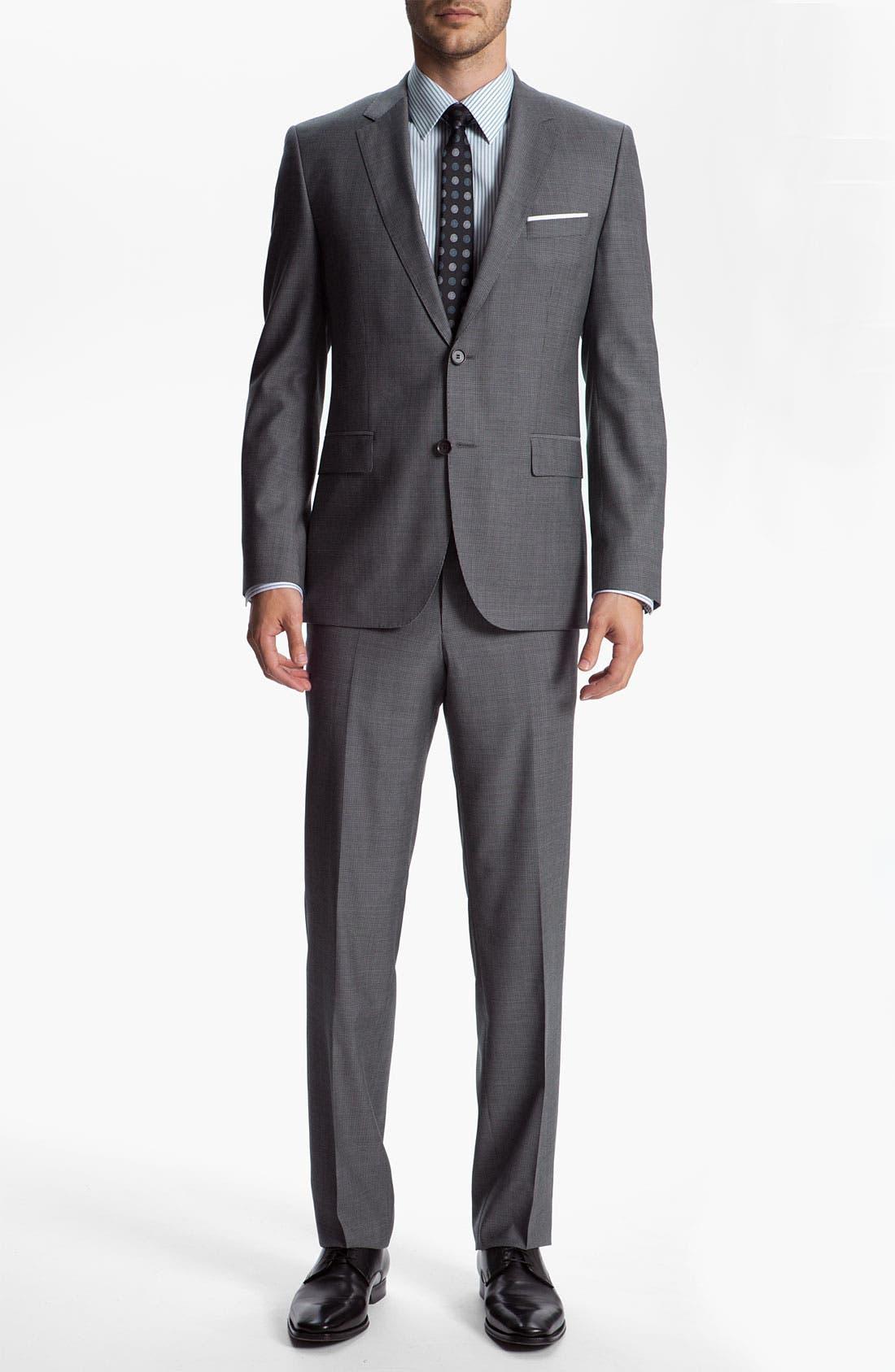 Alternate Image 2  - BOSS Black 'James/Sharp' Trim Fit Neat Check Suit