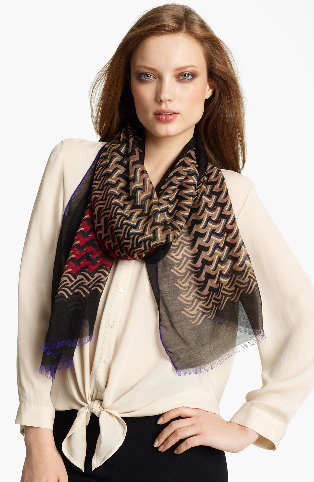 Alternate Image 1 Selected - Missoni 'Small Zag' Modal & Cashmere Scarf