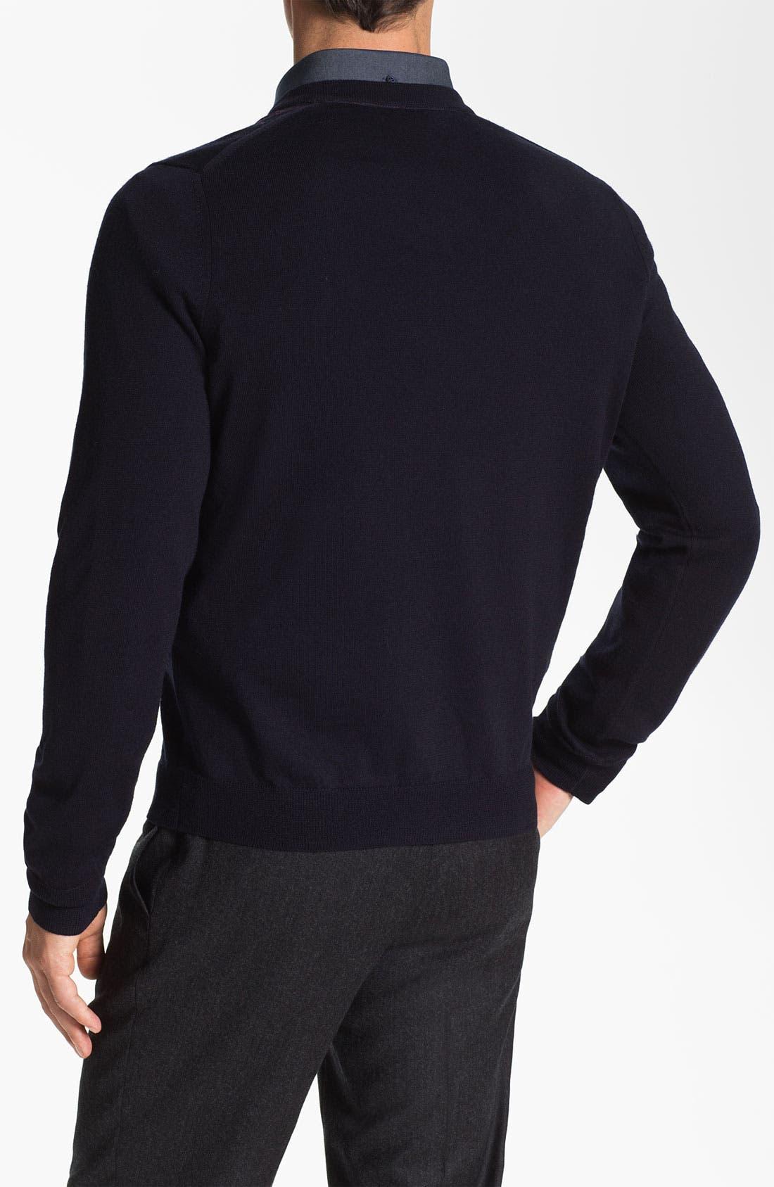 Alternate Image 3  - Nordstrom Argyle V-Neck Sweater