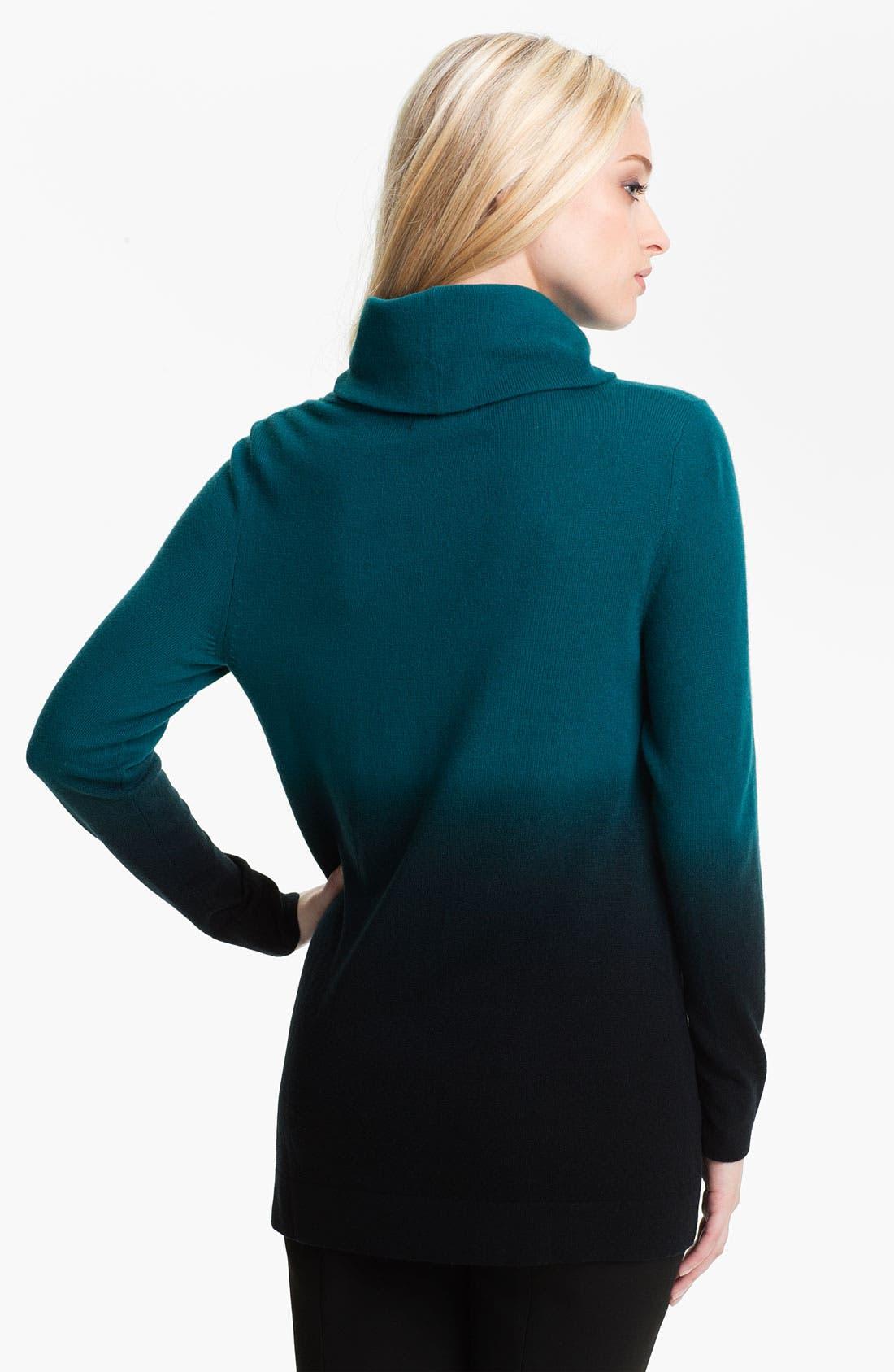 Alternate Image 2  - Nordstrom Collection Ombré Cashmere Turtleneck Sweater