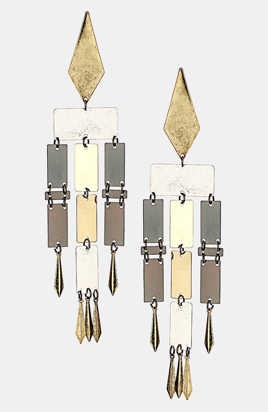 Alternate Image 1 Selected - Topshop Articulated Earrings