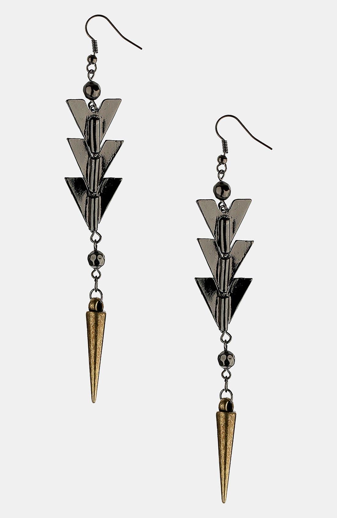 Alternate Image 1 Selected - Topshop 'Arrow Drop' Earrings