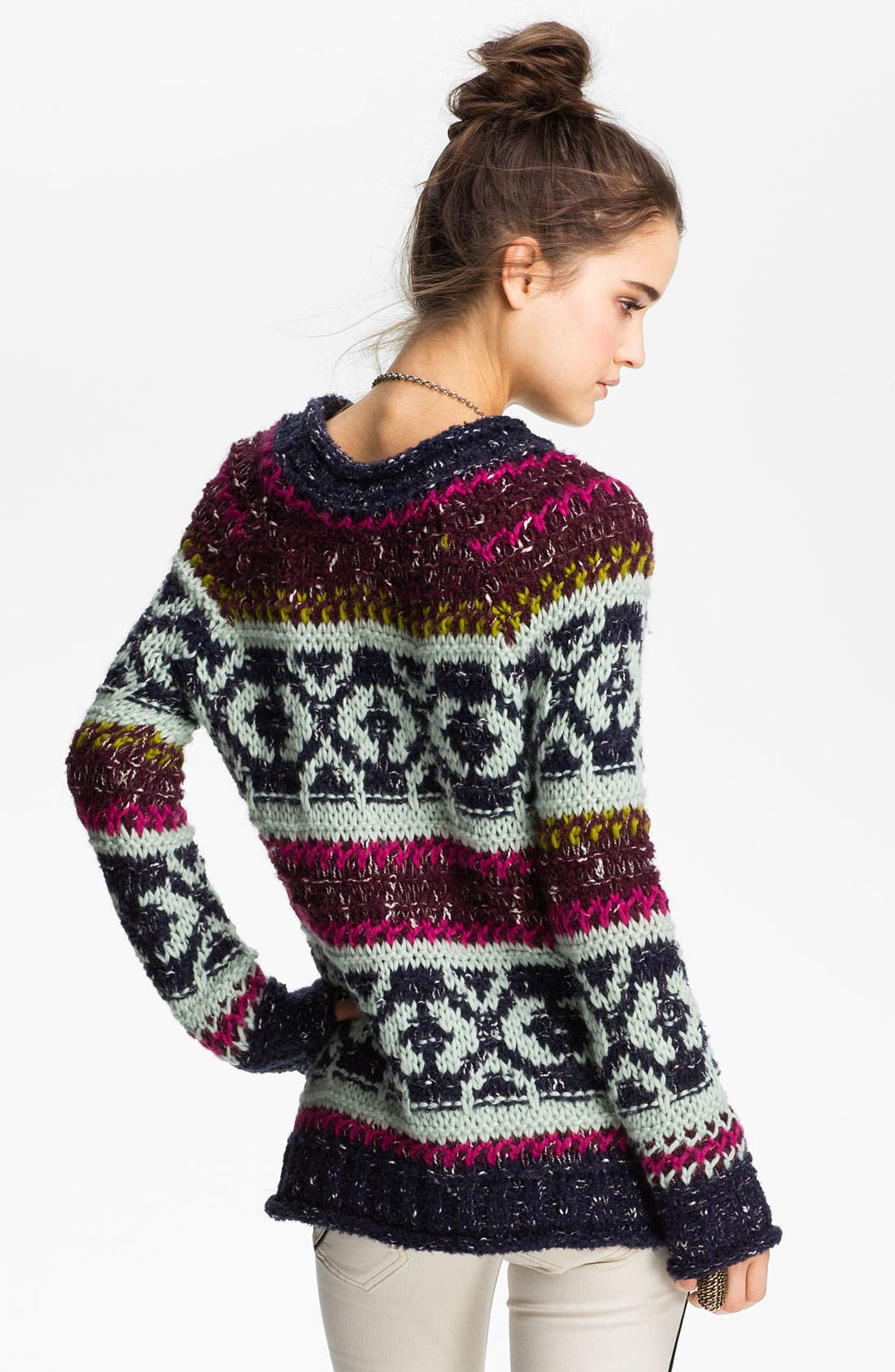 Alternate Image 2  - Free People 'Silver Reed' Chunky Sweater