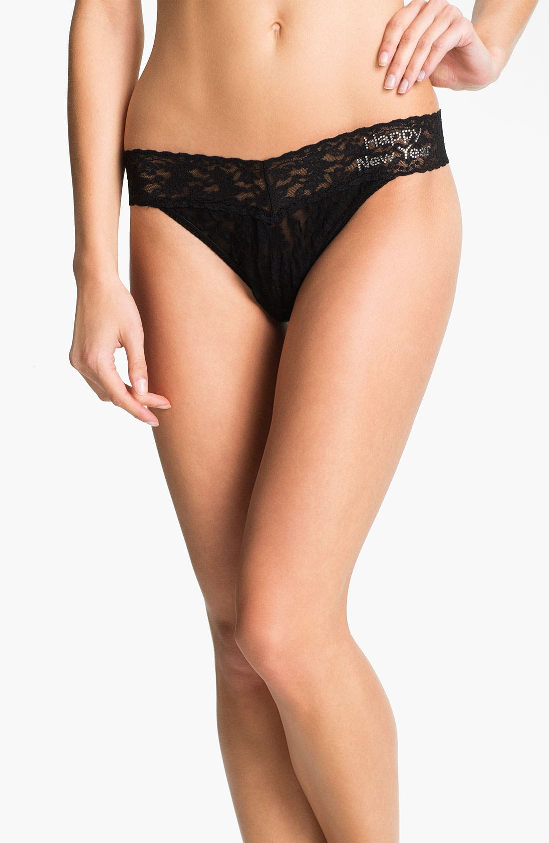 Alternate Image 1 Selected - Hanky Panky 'Happy New Year' Embellished Regular Rise Thong