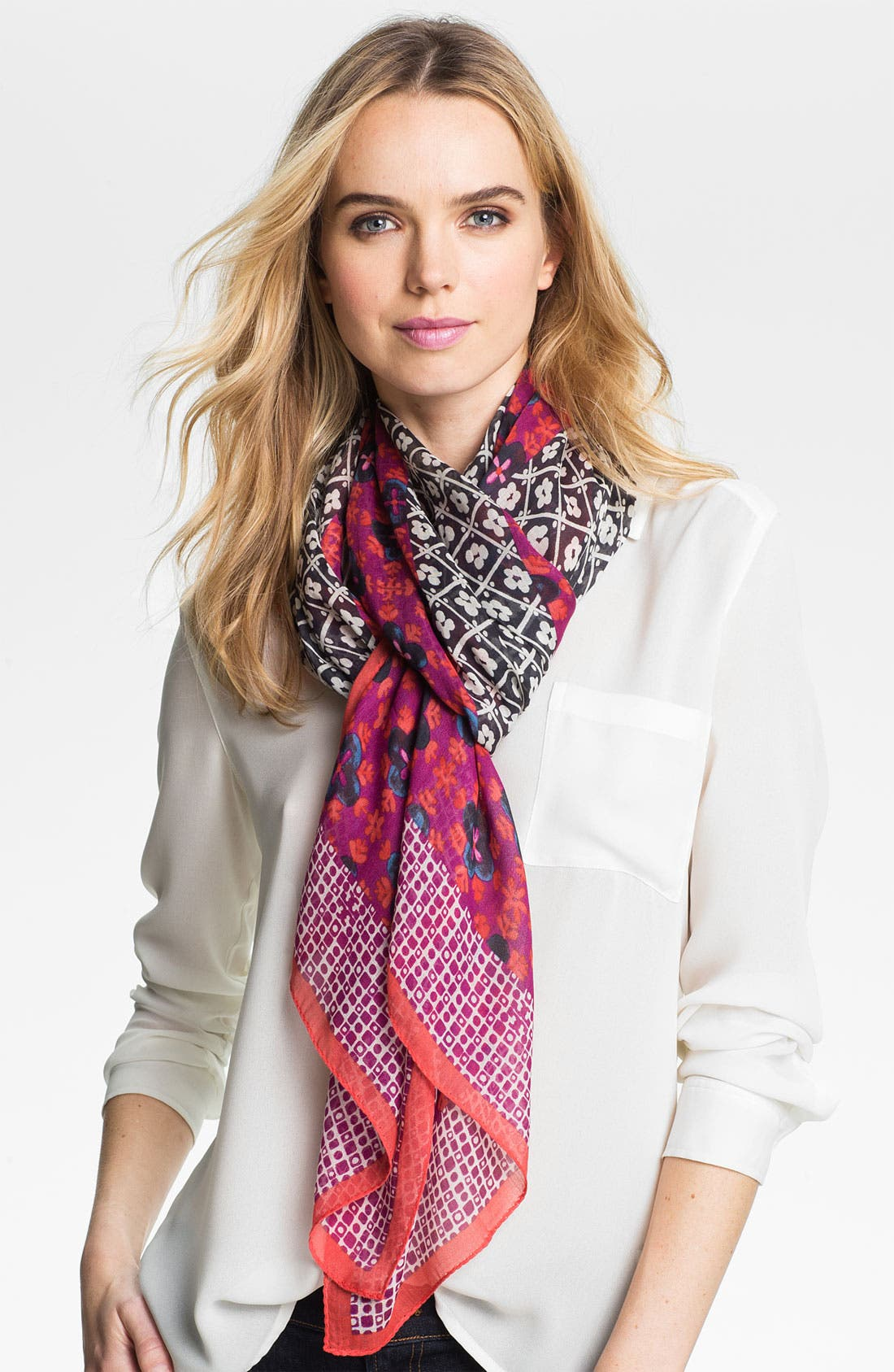 Alternate Image 1 Selected - Tory Burch 'Isabelle Mix Print' Scarf